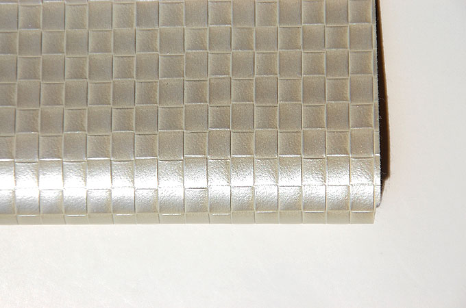 Iridescent basket weave faux leather