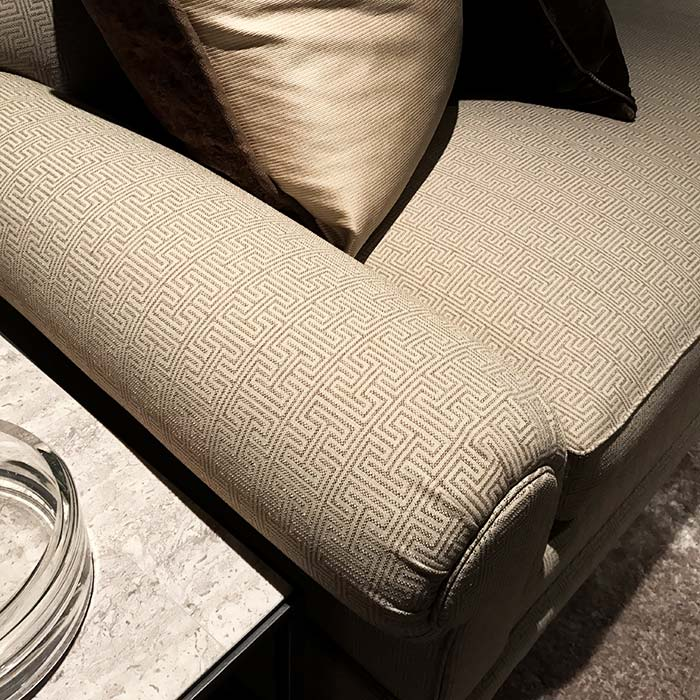 Contract upholstery fabric with i beam pattern