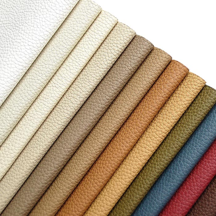 Smart polyurethane faux leather, pebbled texture. For upholstery.